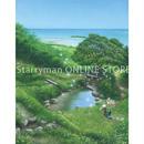【デジタル版画/B5アクリル】「垣花樋川から恵みの風にのせて」