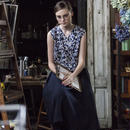 『リンネル3月号掲載商品』コットンリネンプリーツスカート