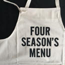 "[新型] DRESSSEN   PR4 THE PROFESSIONAL APRON"" FOUR SEASONS MENU"" ⭕️2018年4月新発売"