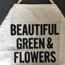 DRESSSEN  DS8  D→SLIDE  APRON  BEAUTIFUL GREEN AND FLOWERS