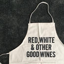 DRESSSEN #64 ADULT APRON RED WHITE & OTHER GOOD WINES