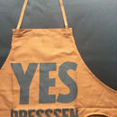 "⭕️ [オンラインストア限定発売]DRESSSEN DR(BRN) APRON  "" YES DRESSSEN  ""  BROWN  COLOR"