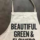 DRESSSEN ADULT APRON #48 BEAUTIFUL GREEN&FLOWERS