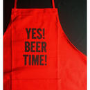 "🔴DRESSSEN DR(RED) 13""YES! BEER TIME!"" APRON ⭐️3月下旬に再入荷します。今しばらくお待ちくださいませ。"