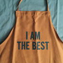 "DRESSSEN DR(BRN) 13APRON  ""I AM THE BEST""  BROWN  COLOR"