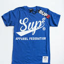 APPAREL FEDERATION MENS TEE (Royal/White)