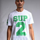 SUP2 MESH PRINT TEE (White/Green)