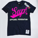 APPAREL FEDERATION MENS TEE (Navy/Paris pink)