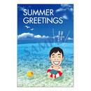 メッセージカード  季節の便り  18-0828(似顔絵ver)/1セット