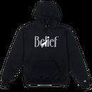 """BELIEF"" MIDNIGHT HOODY (BLACK)"