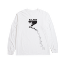 RAREPANTHER  BY ANY MEANS L/S TEE (WHITE)