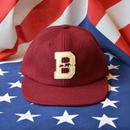"""THE BROOKLYN CIRCUS"" FELT ""B"" VARSITY CAP (BURGUNDY)"