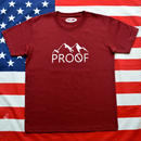 """PROOF"" PROOF LOGO S/S TEE (WINERED)"