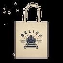 """BELIEF"" QUEENSBORO TOTE (NATURAL)"