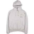 """RARE PANTHER""  FLAMES LOGO REVERSE WEAVE CHAMPION HOODIE (HEATHER GREY)"