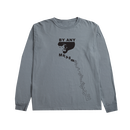RAREPANTHER BY ANY MEANS L/S TEE (GRANITE)