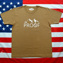 """PROOF"" PROOF LOGO S/S TEE (DARKCAMEL)"