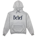 """BELIEF"" MIDNIGHT HOODY (STEEL GREY)"