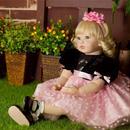 リボーンドール 金髪 カールヘア 女の子 幼児 プリンセスドール 赤ちゃん人形 ベビー人形 ベビードール /綿&シリコン 55cm