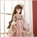 球体関節人形 BJD 完成品 本体ウィッグ衣装付き お姫様 お嬢様 女の子 プリンセスドール 60cm 上品 気品 西洋人形/SD ピンク