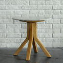 BLEU NATURE STONE TALL SIDE TABLE