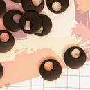 «10個入り» ウッド パーツ ラウンド ブラック 黒 «20mm»