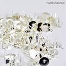 «100個入り» ピアスパーツ 円形平皿 カン付き シルバー «8mm»