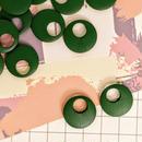«10個入り» ウッド パーツ ラウンド グリーン 緑 «25mm»