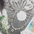 Moonstone/Frower Motif  Necklace