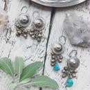 Afghan Concho Earrings/Dot Motif