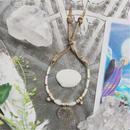 Moonstone/Frower Motif  Bracelet