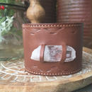 Leather Crystal Bangle B