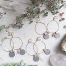 Vintage Coin / Gemstone Hoop Earrings