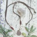 Crystal/Afghan Coin/Buffalo Bone Beads Necklace