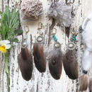 Vintage Concho Feather Earrings
