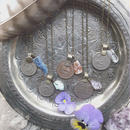 Vintage Coin/Gem Stone Necklace S