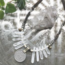 Raw Crystals/Vintage Coin Necklace