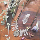 Crystal/India Coin/ Vintage Bell Necklace