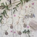 Vintage Coin / Gemstone Hoop Earrings
