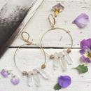 3 Crystal Hoop Earring