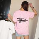 セール!ステューシー 人気 半袖 tシャツ 激安 ピンク ホワイト 2色選択 可愛い カジュアル