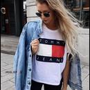 新品  人気 Tommy Hilfiger トミーヒルフィガー Tシャツ 半袖 男女兼用 人気2色