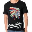 かっこよく!Philipp  Plein Tシャツ メンズファッション 3色 スケルトン 柄 男子