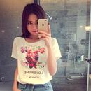 シャネル 新入荷 半袖 tシャツ ホワイト 人気 花柄 セレブ愛用 シャツ ウィメンズファッション