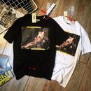 激安 オフホワイト メンズ愛用 Tシャツ 男女兼用 2色 名画