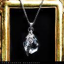 【天然石 | 天然水晶・ドリームキャッチャー・シルバー925・ペンダント】守護・心身浄化・幸運・魔除け・パワーストーン