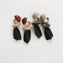 Mat natural earring