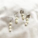 Pearl asymmetry pierce/earring