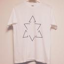 三角形×六芒星★幾何学デザイン★プリントTシャツ★M★男女可