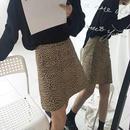 Aライン レオパード柄スカート